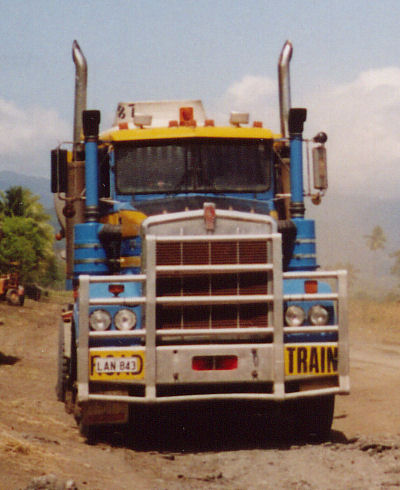 Truck along Highlands Highway